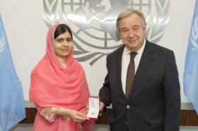 20170411 Malala Yousafzai-ONU-Guterres