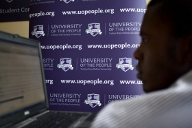 University_of_the_People_(UoPeople)_student_at_a_computer_center_in_Haiti